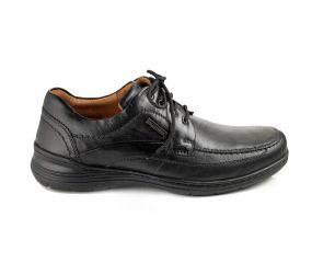 Valleverde - Black Leather Plain Toe Waterproof Oxford