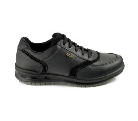 Valleverde - Black Leather Waterproof Oxford