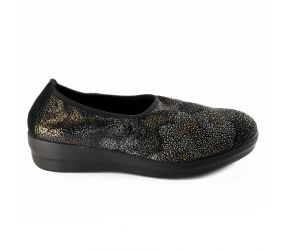 D'Chicas - Black Floral Stretch Slip On