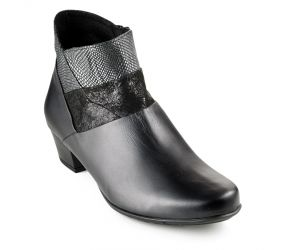 J. Metayer - Dima Black Leather Pant Boot