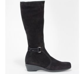 La Canadienne - Hilary Black Nubuck Boot