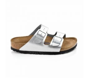 Birkenstock - Arizona Soft Footbed Silver Birko-Flor