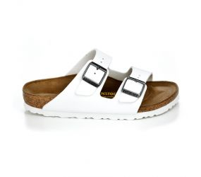 Birkenstock - Arizona White Narrow Birko-Flor