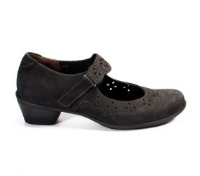Durea - Dorris Black Suede Mary Jane