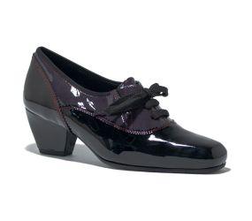 Finest - 7Lavero Black/Purple Patent Oxford