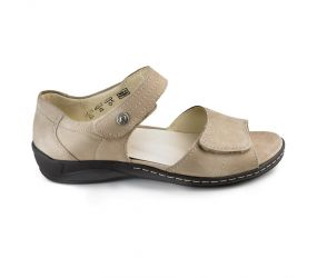 Waldlaufer - Hilena Light Taupe Nubuck Sandal