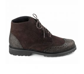 Christian Dietz - Bolzano Cafe Patent/Suede WingTip Boot