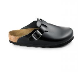 Birkenstock - Boston Soft Footbed Black Amalfi Leather