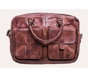Kiko Leather - Commuter Briefcase - Brown