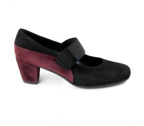 Finest - Quarzo Pump Black Suede/Purple Patent