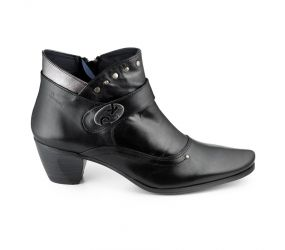 Dorking - Bambu Black Leather Boot