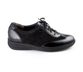 Durea - Black Patent/Suede/Leather Oxford