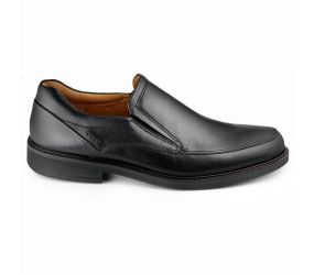 Ecco Apron Toe Slip On Black