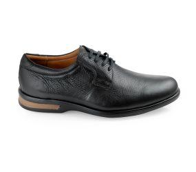 Gaivota - Black Leather Plain Toe