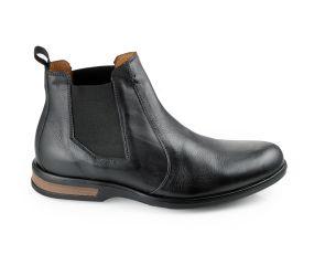 Gaivota - Black Leather Chelsea Boot