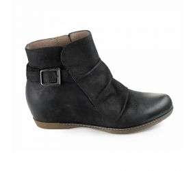Dansko - Lia Black Burnished Nubuck Bootie