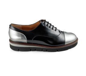 Voltan - Cap Toe Oxford Black/Silver