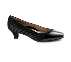 Beautifeel - Laverne Black Linear Print Pump