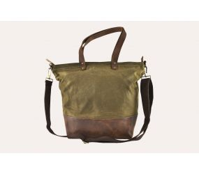 Kiko Leather - Boyfriend Tote Canvas Bag - Olive