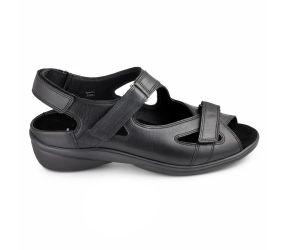 Durea - Black Softcalf Sandal