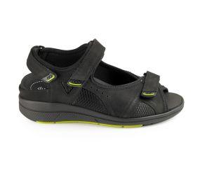 Durea - GO Black Nubuck Sandal