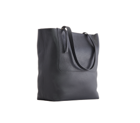 Kiko Leather - Double Zip Tote - Black