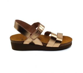 Naot - Kayla Rose Gold Leather Sandal