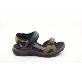 Ecco - Offroad Petrol/Aubergine/Fir Green Sandal