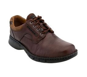 Clarks Unravel Leather Oxford - Brown