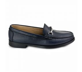 Vittoria Mengoni - Navy Leather Italian Loafer