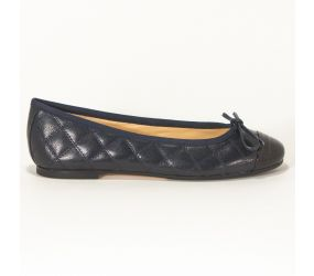 Patricia Green - Alex Navy Quilted/Patent Flat