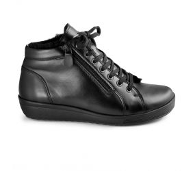 Christian Dietz - Locarno Black Leather Zipper-Chukka