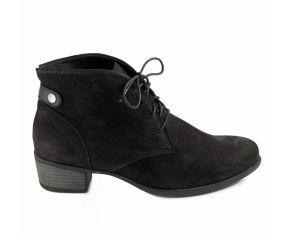 Durea - Black Nubuck Pant Boot