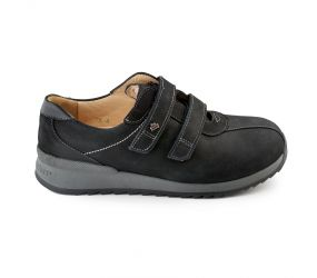 Finn Comfort - Black Prevention Velcro Shoe