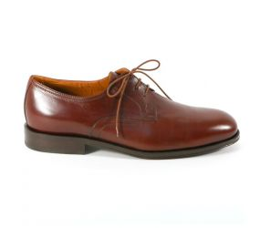 Attiva Brown Leather Plain Toe