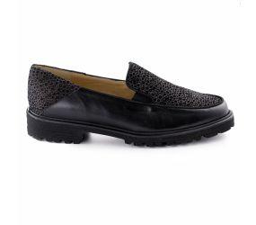 Brunate - Black Napa/Suede Loafer