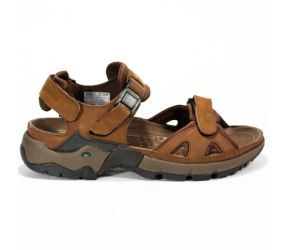 Mephisto Alligator Brown Waxy Sandal