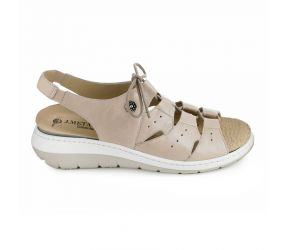 J. Metayer - Anada Beige Leather Sandal