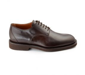 Attiva - Brown Leather Plain Toe Oxford