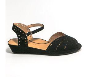 L'Amour Des Pieds - Brenn Black Suede Sandal