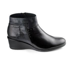 Regarde Le Ciel - Daisy 07 Black Wedge Boot
