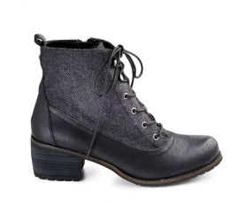 Aetrex - Skyler Black Lace Up Boot