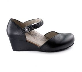Aetrex - Mia Black Mary Jane Wedge