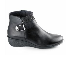 Fluchos - Yoda Black Leather Wedge Boot