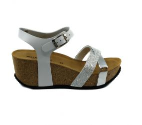 Valleverde - White Cork Wedge Sandal