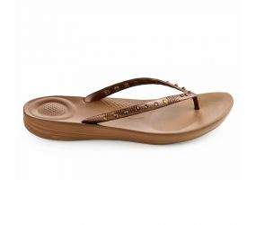 FitFlop TM Iqushion Ergonomic Flip Flops Crystal Bronze
