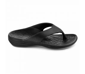 Aetrex - Men's Lynco Flip Sandal Black