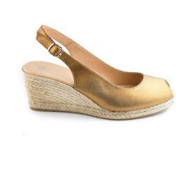 Eric Michael - Linette Gold Wedge Sandal