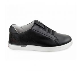 Kizik - New York Black Leather Slip On