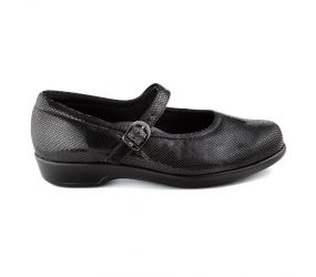SAS Shoemakers - Maria Black Snake Print Mary Jane